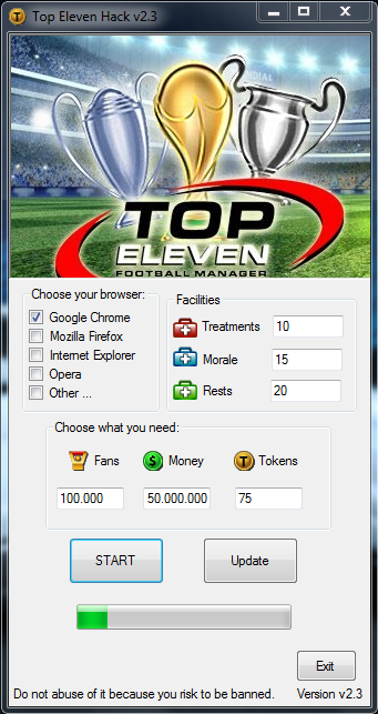 TOP ELEVEN HACK 2.3V