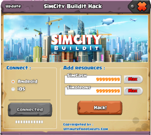 SimCity BuildIt Hack Cheats Tool