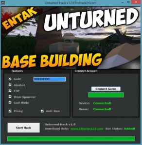 Unturned Hack v1.0 Cheats for PC