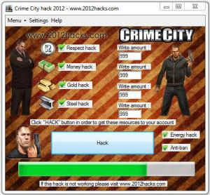 Crime City Hack Tool