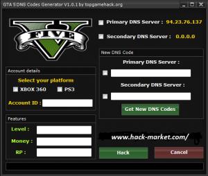 GTA 5 DNS Codes Hack