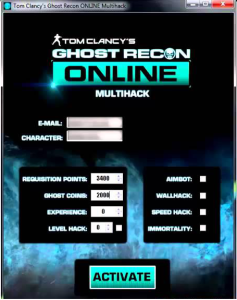 GHOST RECON ONLINE HACK TOOL