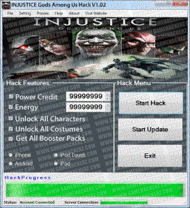 Injustice Gods Among Us Hack Tool