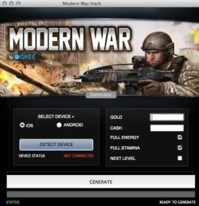 MODERN WAR GOLD CASH HACK TOOL
