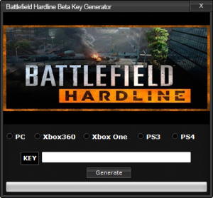 Battlefield Hardline Beta Key generator