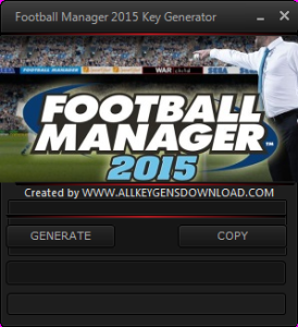 Football Manager 2015 key generator