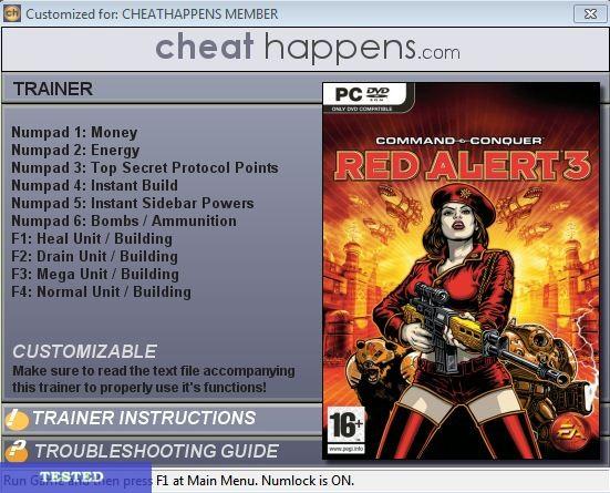Red Alert 3 v1.04 +12 Trainer