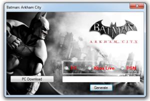 Batman Arkham City Key generator