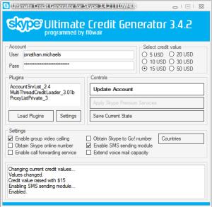 Skype Credit Generator