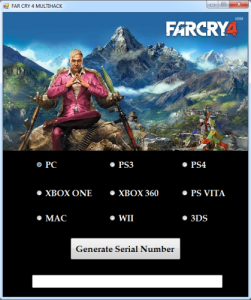 Far Cry 4 key generator