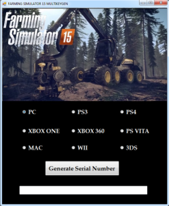 Farming Simulator 15 key generator
