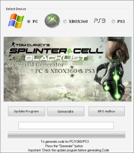 Splinter Cell – Blacklist Keygen