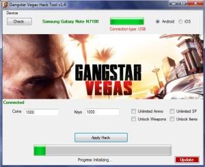 Gangstar Vegas Hack keys & cash