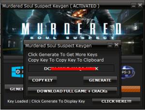 Murdered: Soul Suspect Key generator
