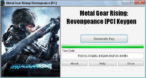 Metal Gear Rising: Revengeance Keygen