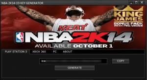 NBA 2K14 key generator