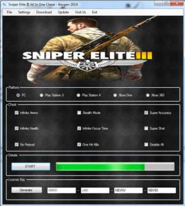Sniper Elite 3 CD key generator