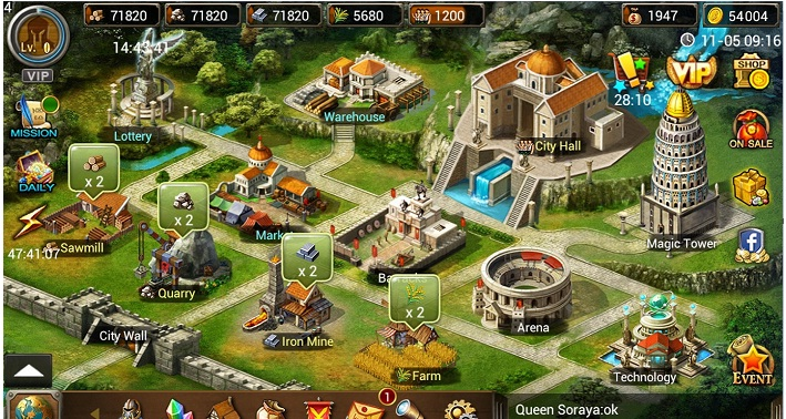 Age Of Warring Empire Hack gold, Unlimited wood, Unlimited stone