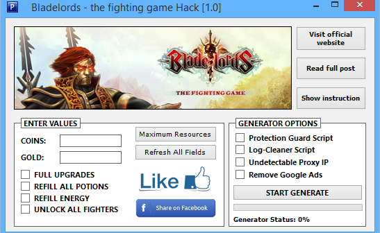 Bladelords The Fighting Hack Tool