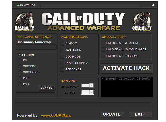 Call Of Duty Advanced Warfare Hack