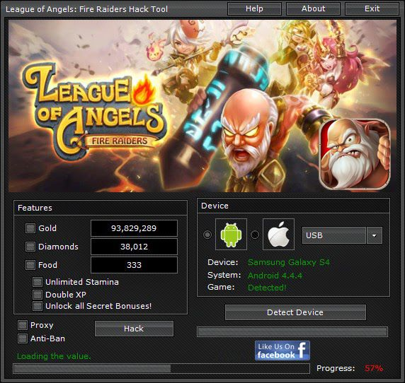 League Of Angels Hack