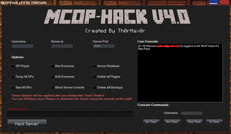 Minecraft Force Op Hack