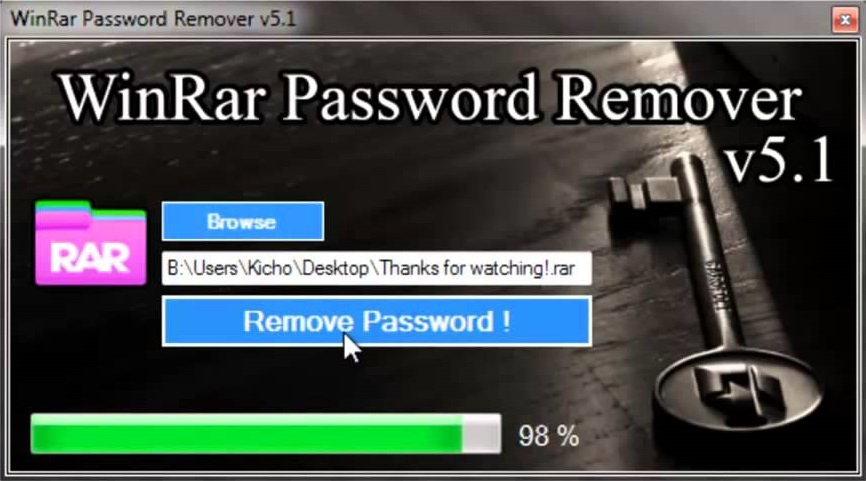 WinRAR Password Remover cracked