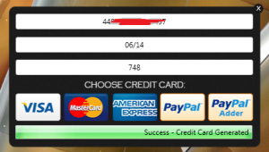 Fake Credit Card Generator