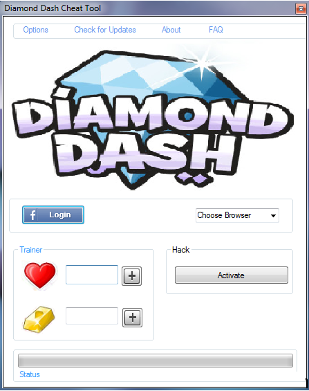 Diamond Dash Hack lives Add unlimited gold