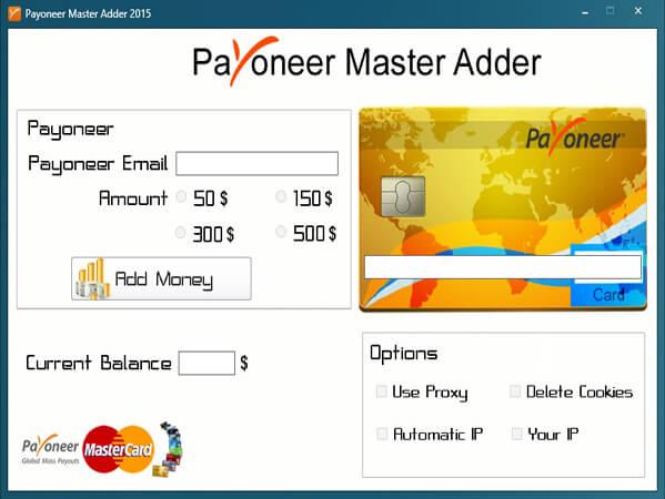 Payoneer Money Adder