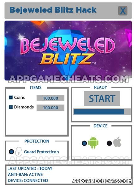 Bejeweled Blitz Free Hack Generator for Coins and Diamonds