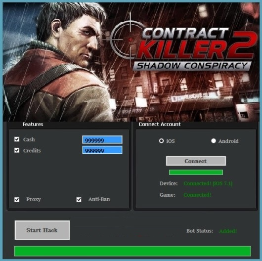 Contract Killer 2 Hack for Cash and Credits