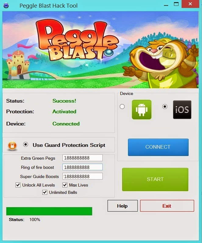 Peggle Blast Hack for Green Pegs, Ring of Fire, & Super Guide – iOS & Android