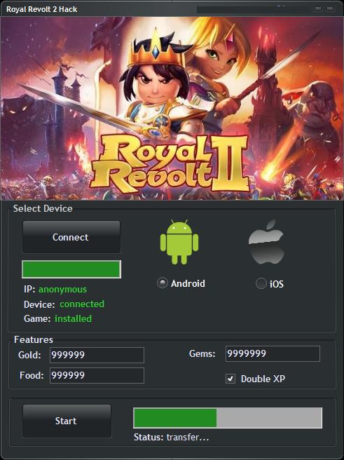 Royal Revolt 2 Hack Download for Gems, Gold & Food
