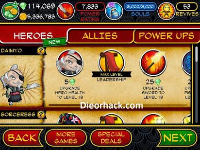 Samurai vs Zombies Defense Hack for Gems, Coins & Glu Credits
