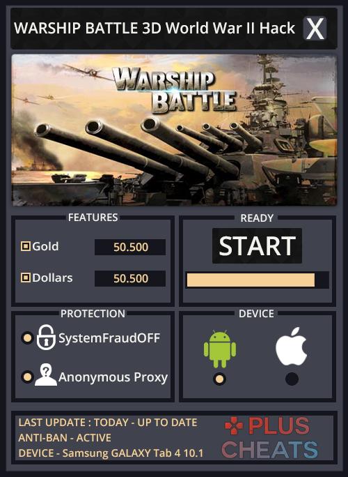 WARSHIP BATTLE 3D World War II hack