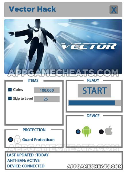 vector-hack-cheats-coins-level-skip