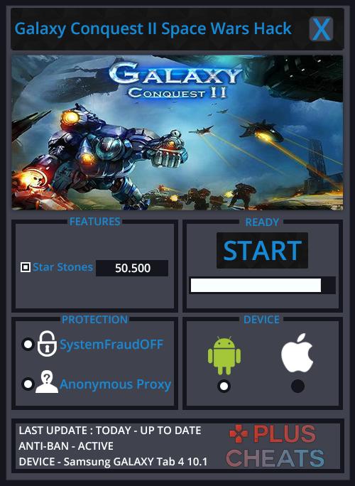 Galaxy Conquest II Space Wars hack