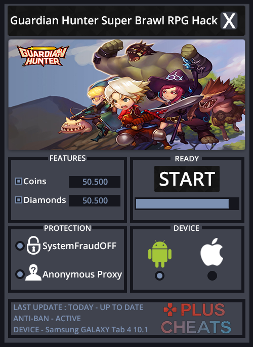 Guardian Hunter Super Brawl RPG hack