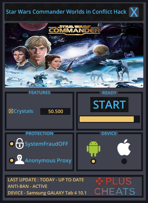 Star Wars Commander Worlds in Conflict hack