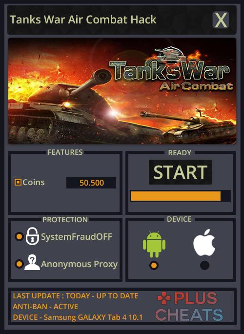 Tanks War Air Combat hack - Copy