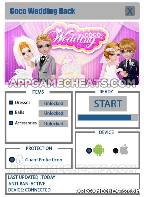 coco-wedding-cheats-hack-dresses-balls-accessories