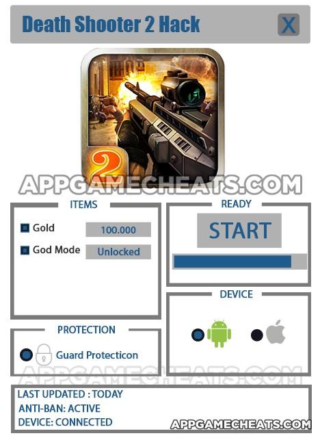 Death Shooter 2 Hack for Gold & God Mode unlock god mode