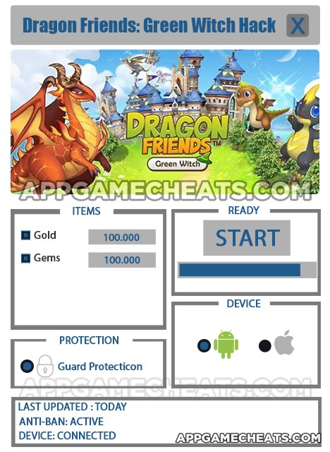 Dragon Friends: Green Witch Hack