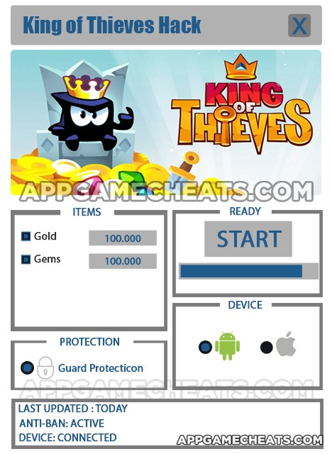 King of Thieves Hack for Gold & Gems