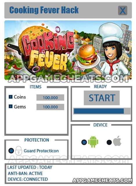 Cooking Fever Hack for Coins and Gems