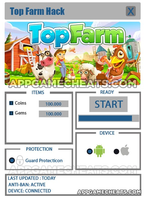 Top Farm Hack for Coins and Gems