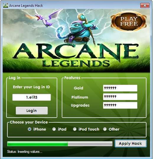 New Arcane Legends Hack.