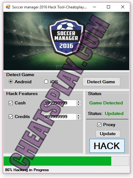 Soccer manager 2016 Hack Tool