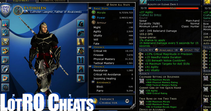 Lord of the Rings Online Cheats 2